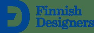 Finnish Designers logo, sininen. Etsitkö tekstiilialan asiantuntijaa tai muotoilijaa?