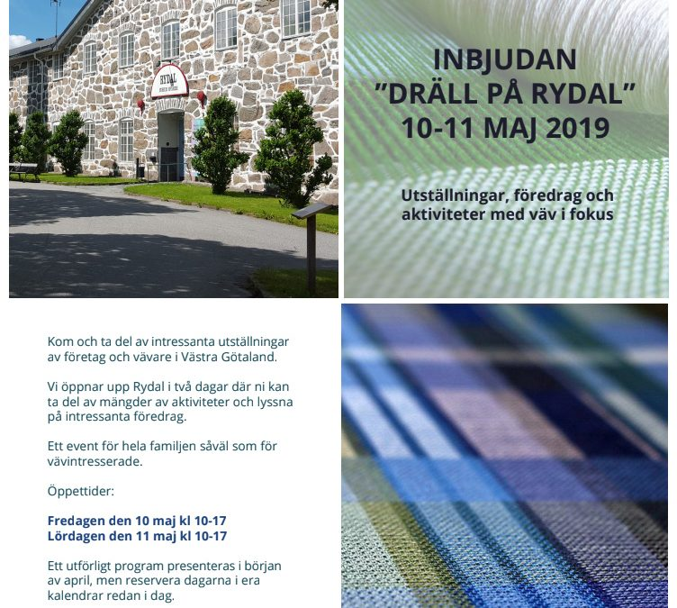 """Dräll på Rydal"" weaving event in May 2019"