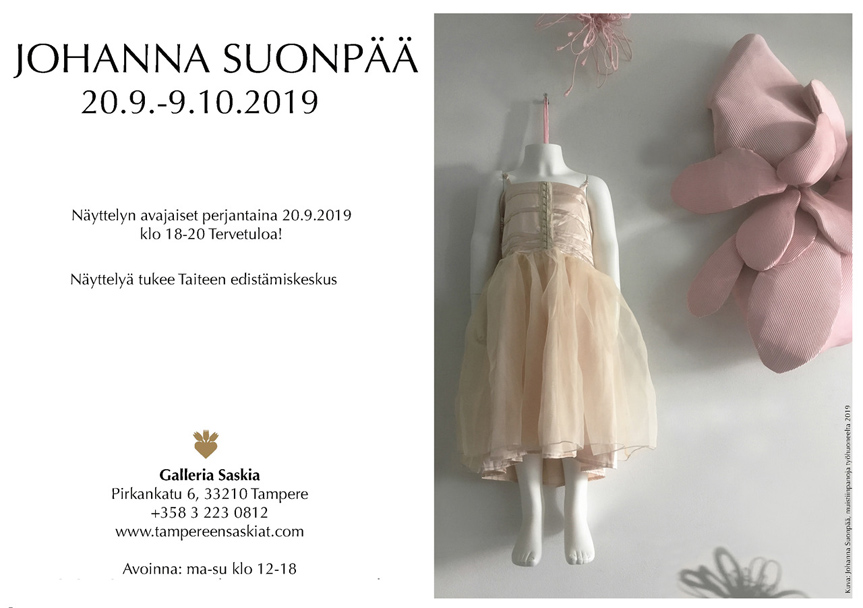 Johanna Suonpää Galleria Saskiassa Tampereella