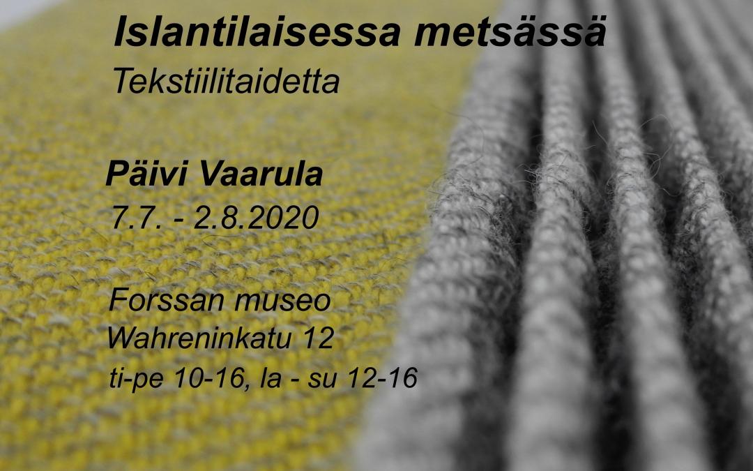 Päivi Vaarulan tekstiilitaidenäyttely Galleria Moletissa